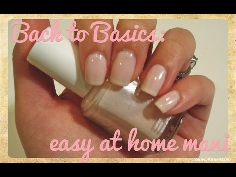 Easy At Home Manicure - YouTube