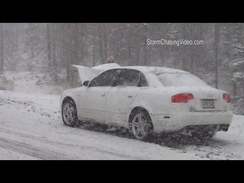 10/12/2014 I70 Snow Travel Hazards  /  Eisenhower Tunnel Colorado
