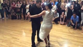 Melanie Torres and Gabriel Perez Sexy Salsa Social Dancing!!