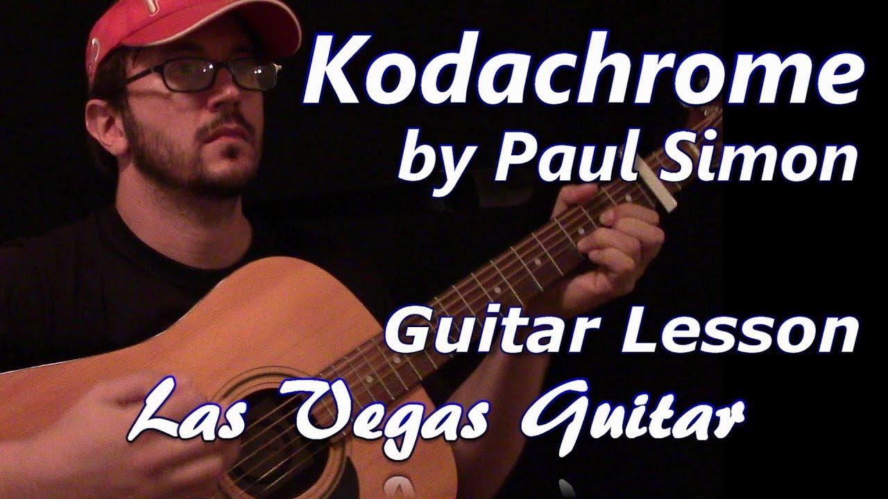 Kodachrome By Paul Simon Guitar Lesson Youtube