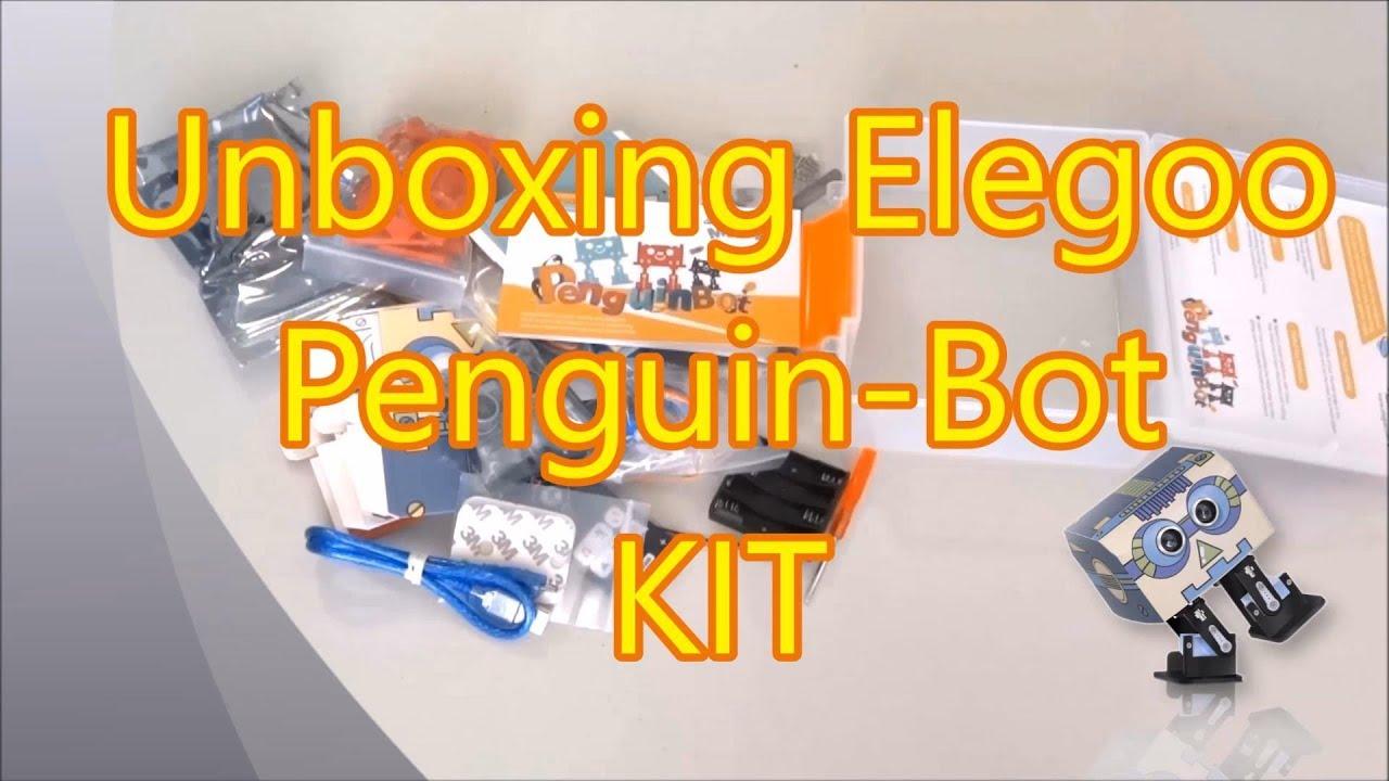 Unboxing elegoo penguin bot arduino robot kit youtube