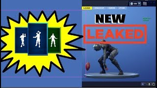 All New Leaked Emotes! NFL Update! Spike It, Crazy Feet, And Denied | Fortnite Battle Royale