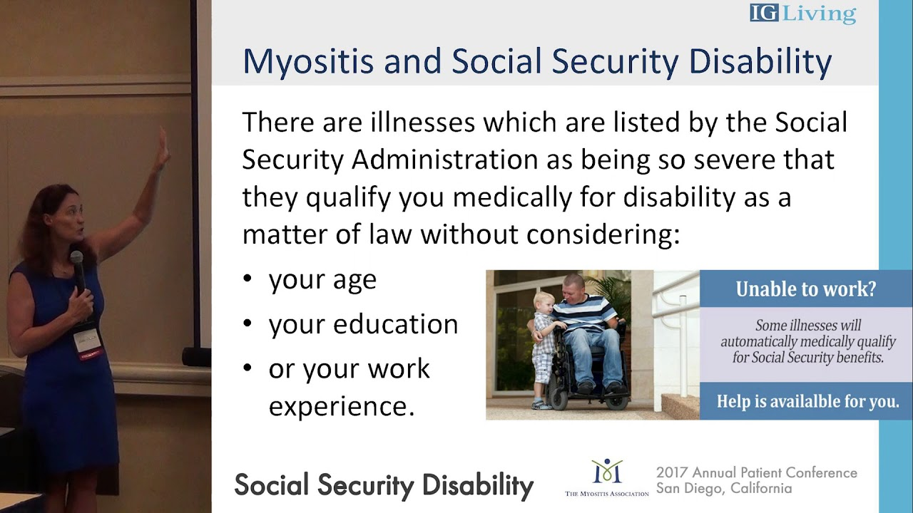 Social Security Disability and the Myositis Patient, Abbie Cornett