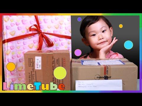 라임팬 선물 개봉기 4탄~고품격 먹는 방송 서프라이즈 장난감 선물상자 Surprise Toys Box   LimeTube & Toy 라임튜브