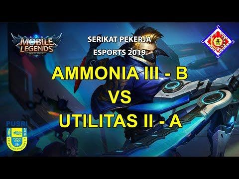 AMMONIA III - B vs UTILITAS II - A | SERIKAT PEKERJA ESPORTS BUMN PUSRI 2019