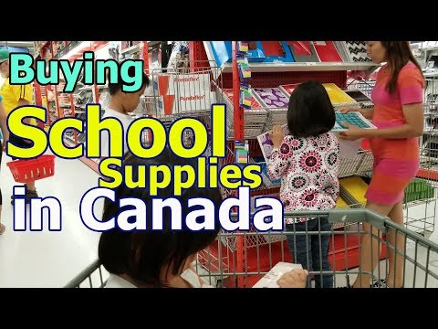 Buying School Supplies In Canada - Walmart And Staples
