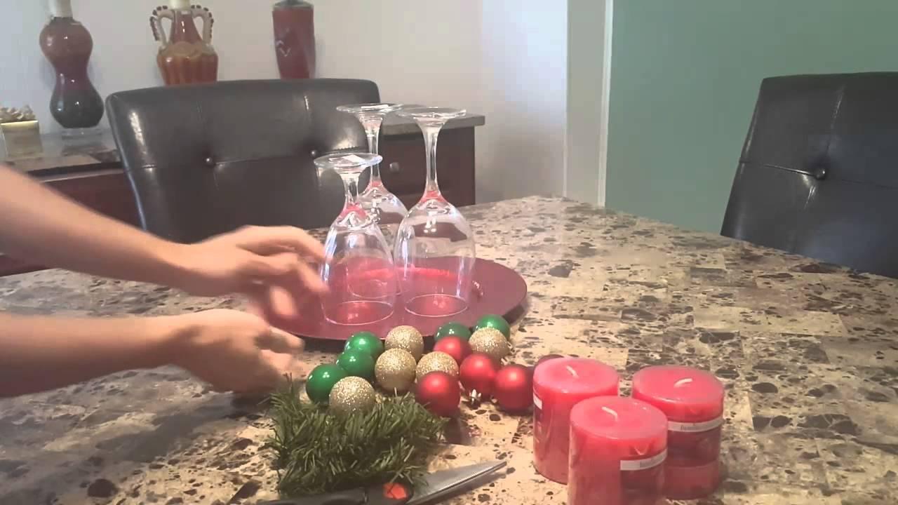 Diy centro de mesa navideno christmas centerpiece youtube - Youtube centros de mesa navidenos ...