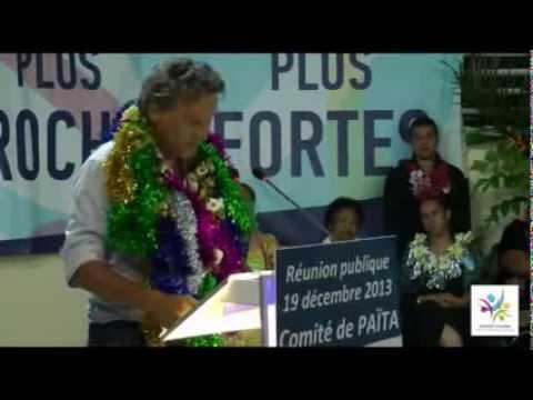 Municipales Païta : discours de Frédéric De Greslan - 19-12-2013