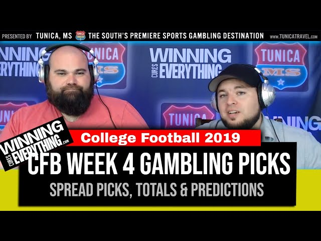 WCE: 2019 College Football Gambling Picks Week 4 (Against the Spread)
