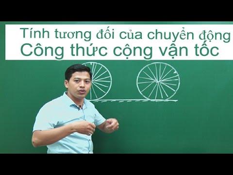 Tính tương đối của chuyển động. Công thức cộng vận tốc- Vật Lý 10 – Thầy giáo Phạm Quốc Toản