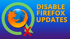 How to Disable Firefox Quantum Updates in Windows
