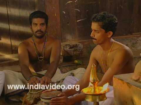 Mizhavu training in Kutiyattam - drumming for a brahmin's travels