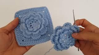 Çiçek Motifli Battaniye veya Kırlent Modeli