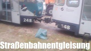 Straßenbahnentgleisung nahe Friedhöfe am 29.07.2014
