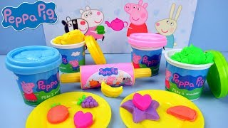 PEPPA PIG DINNER PLAY SET PLAY DOH ~PEPPA PIG AVONDETEN SPEELSET VAN KLEI