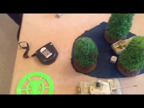 German Africa Korps v Early French, Panzerkampf, Bolt Action Tank Wars Battle Report 1500 Part 1