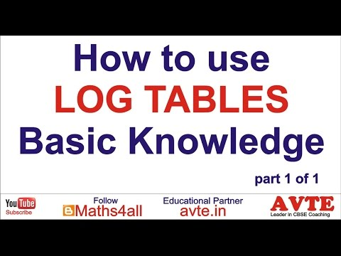 How to use Log Tables Basic Knowledge part 1 of 1