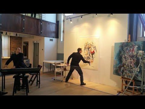 Dimitri Pavlotsky - Live Painting / Music Performance With Brad Robin