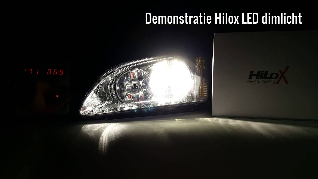 Hilox LED Kit voor dimlicht grootlicht en mistlicht - YouTube