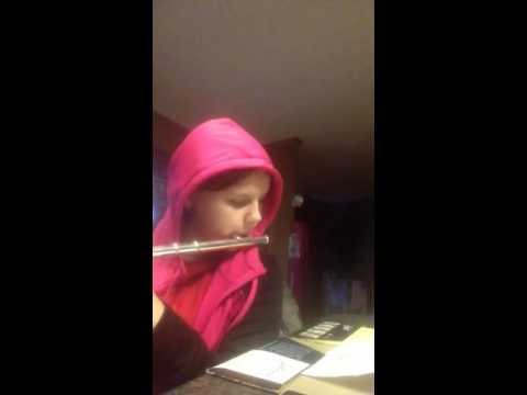 American spirit March on the flute