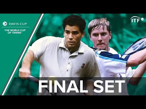 Pete Sampras vs Yevgeny Kafelnikov | Final Set | Russia v United States | Davis Cup Final 1995 | ITF