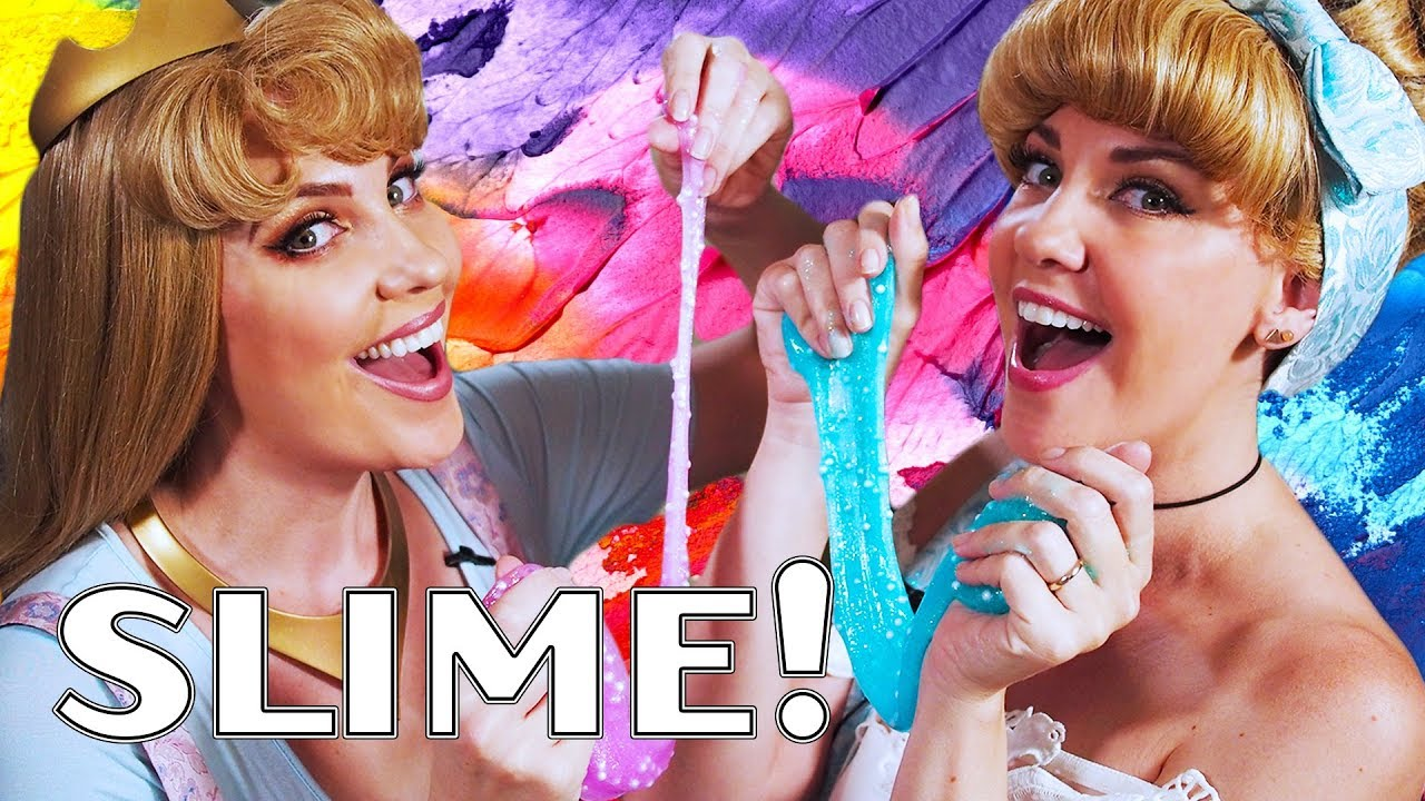 Crafting with Disney Princesses - Slime!