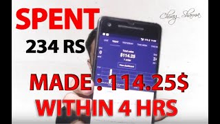 Turning 234 Rs into $114 With FB Ads | How to make Money Online|  Shopify Drop-shipping India