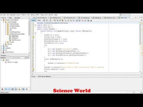 Socket Programming Single Server Multiple Client Program | In Java Tutorial