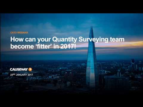 Causeway CATO Essentials | How can your Quantity Surveying team become 'fitter' in 2017!