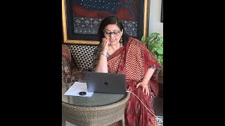 FaceBook Live lectures at Indira Gandhi National Centre for Arts- Shelly Jyoti, A textile artist