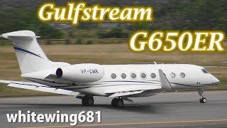 [G650ER] TAG Aviation Gulfstream G650ER VP-CMR TAKE-OFF TOYAMA Airport 富山空港 2018.5.6