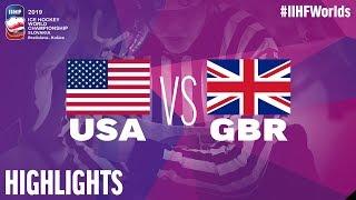 USA vs. Great Britain - Game Highlights - #IIHFWorlds 2019
