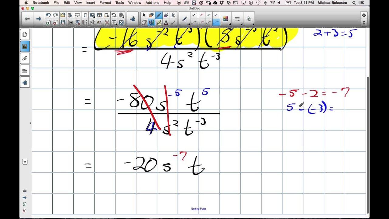 Simplifying Exponents Grade 11 University Lesson 4 3 4 14 15