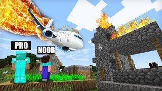 Minecraft - NOOB vs PRO : PLANE CRASH in Minecraft ! AVM SHORTS Animation