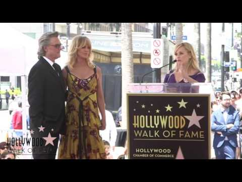 Reese Witherspoon tears up at Goldie Hawn's Hollywood Walk of Fame Ceremony