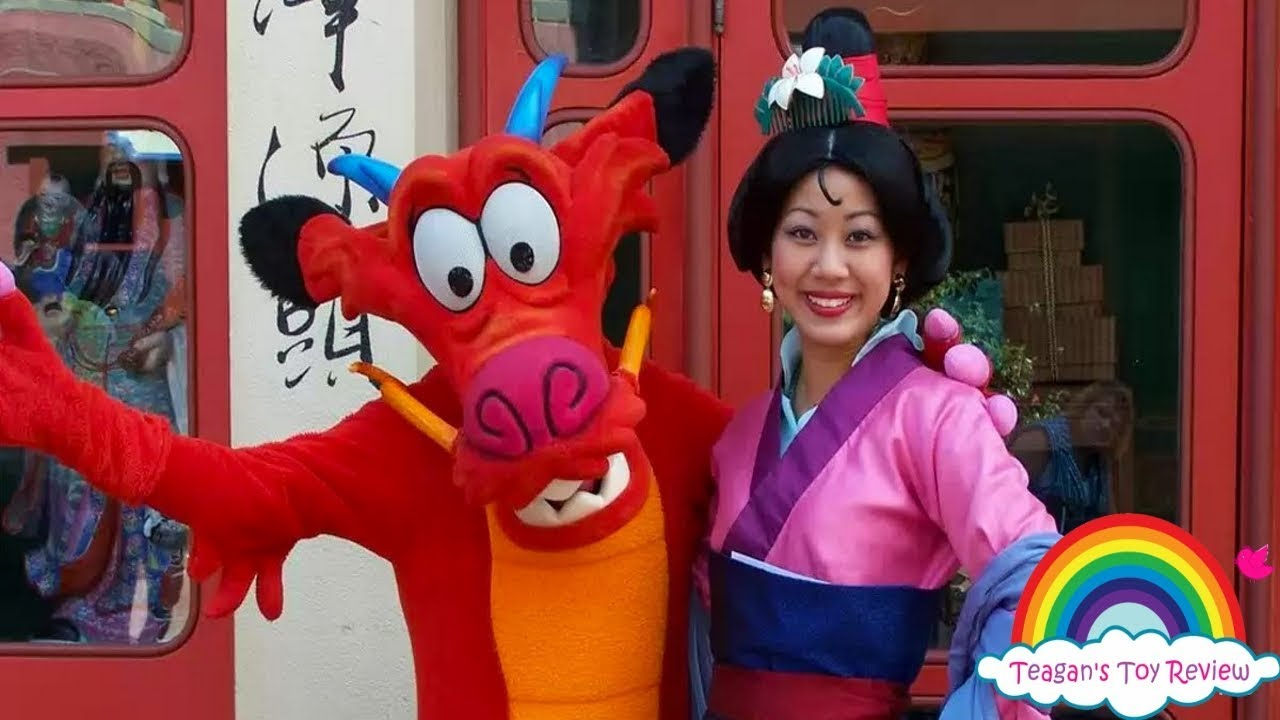 Meet And Greet Mulan Character Spot Disney World Epcot