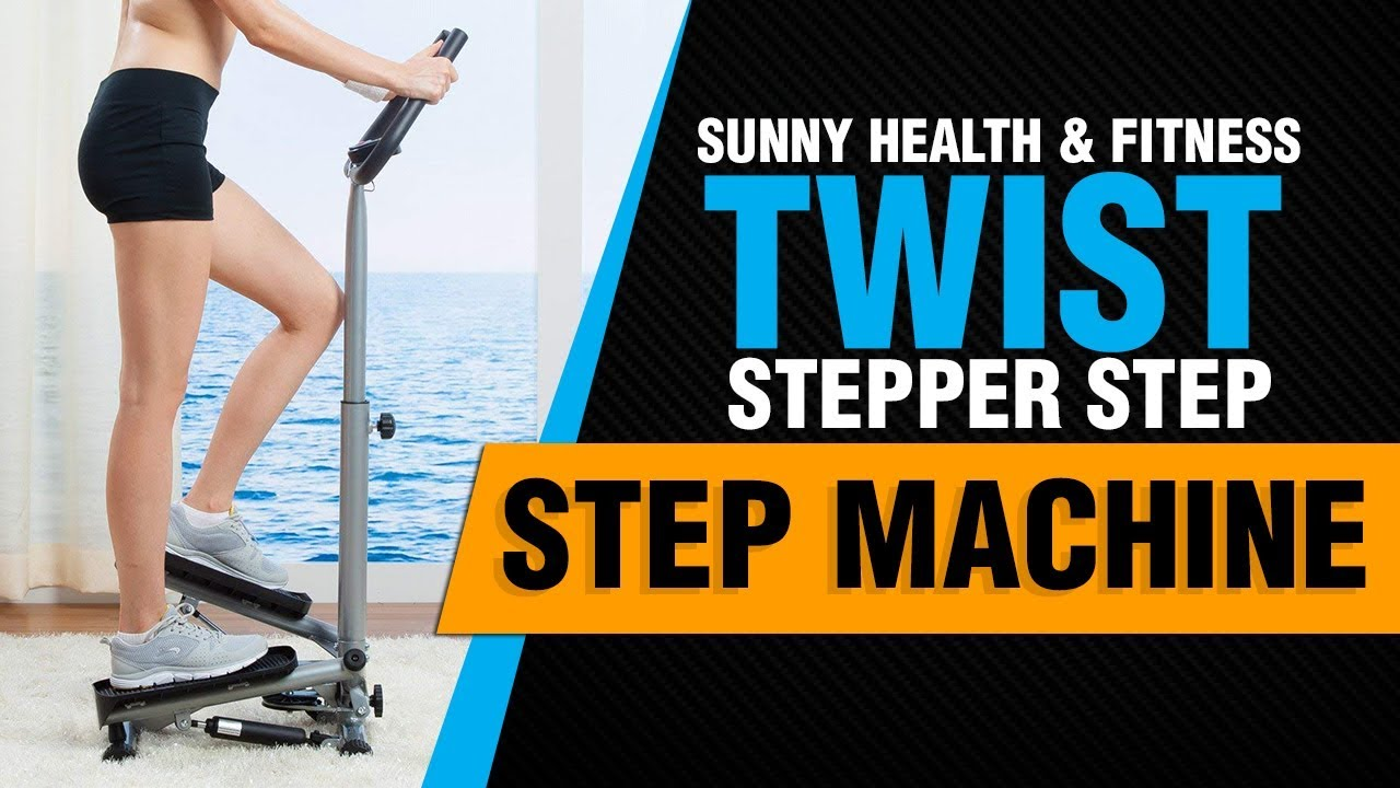 Sunny Health /& Fitness S0636 Twist-in Stepper Step Machine w// LCD Monitor