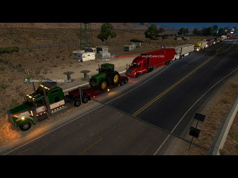 Gran Convoy camiones Kenworth y Peterbilt | De Jackpot a Primm, Nevada
