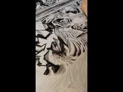 Jason Moore inking Kyle Hotz
