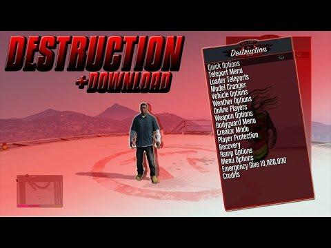 GTA 5 ONLINE:  DESTRUCTION MOD MENU! 1.27 + FREE DOWNLOAD! [XBOX 360]