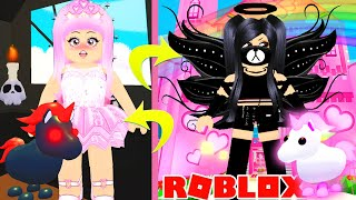 Switching Houses With My OPPOSITE TWIN For 24 Hours In Adopt Me... Roblox Adopt Me