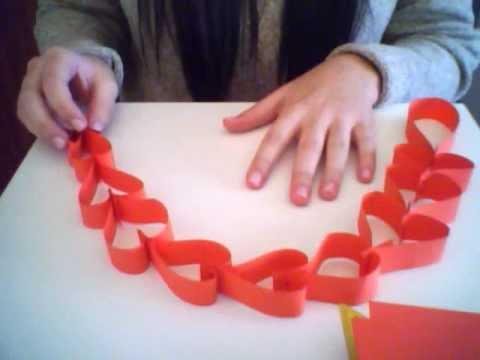 Guirnalda de corazones con papel youtube for Diario mural fiestas patrias chile
