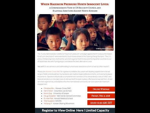 When Maximum Pressure Hurts Innocent Lives: An Online Webinar and Roundtable Discussion