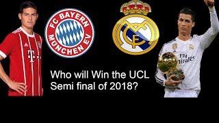 Uefa champions league semi final favourite ? real madrid vs bayern munich
