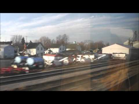 Riding VIA Rail Train #70 between London and Windsor, Ontario, 15.03.12