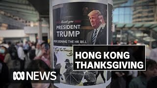 Hong Kong protests turn to Thanksgiving celebration   ABC News
