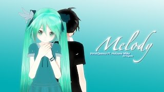 VerseQuence Ft. 初音ミク [V3 English] - Melody [MMD PV]