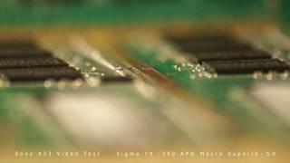 sony slt a33l sigma 70 300 apo macro super manual focus test video