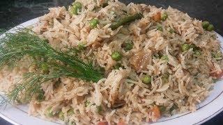 Matar Pulao / Peas Rice ( Cooking With Fouzia )