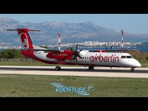 Air Berlin - Bombardier DHC-8-402 Q400 D-ABQB - Takeoff from Split Airport LDSP/SPU